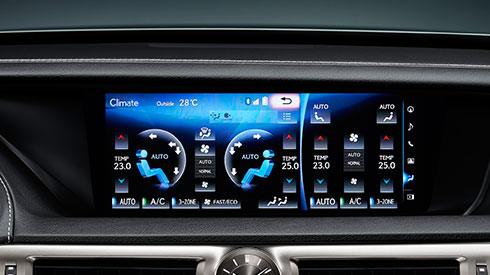 GS 2016 3-Zone S-Flow Control Air-Conditioning | Lexus Bahrain