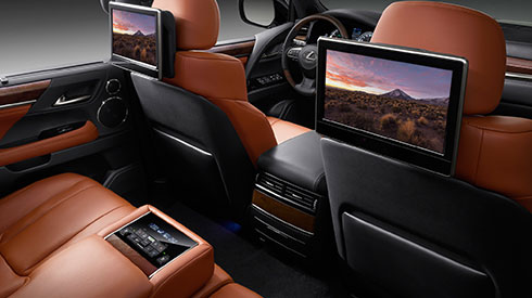 New LX Features Rear seat entertainment system | Lexus Bahrain