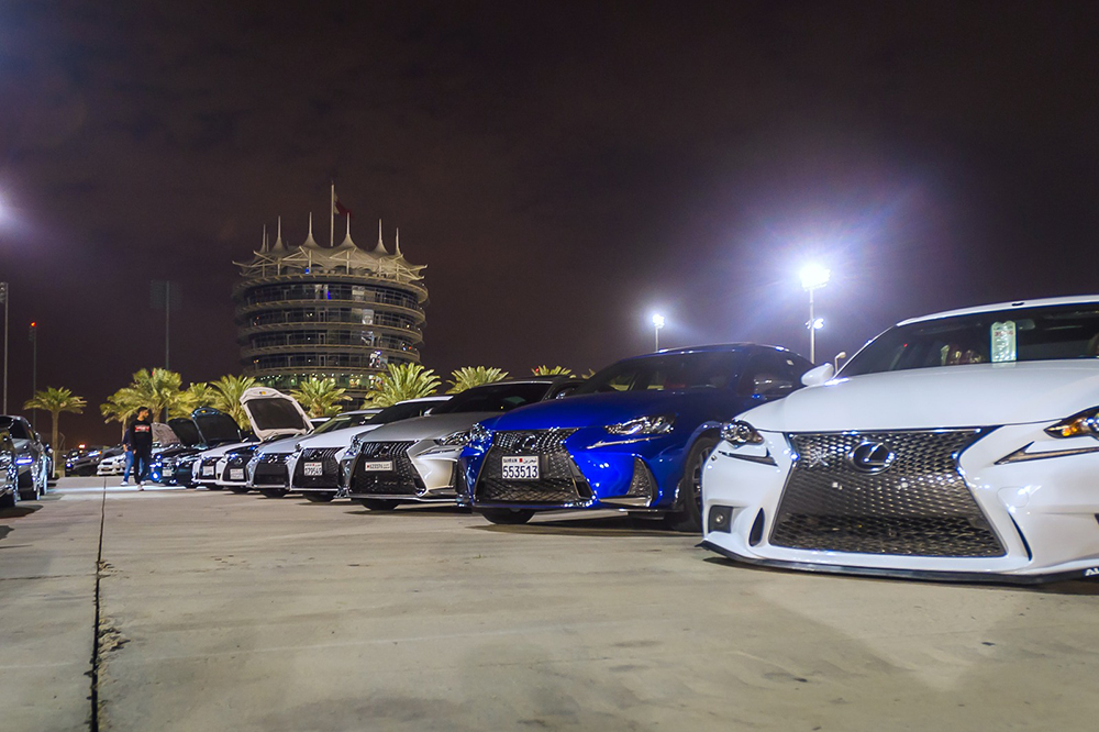 Ebrahim K. Kanoo Welcomes Lexus Fan Clubs at Drag & Drift Night Manama, 20 February 2019: Ebrahim K. Kanoo hosted the Lexus GS and Lexus IS fan clubs at the popular Drag & Drift nights at the Bahrain International Circuit (BIC).  Members of both clubs were welcomed at the event with hospitality and challenging competitions as well as the chance to experience their cars on the world renowned drag strip. The all new Lexus ES and IS were available for guests to test drive and the sporty F-sport versions of bot